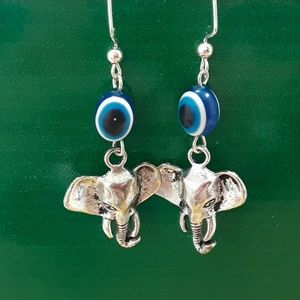 Hand crafted elephant earrings